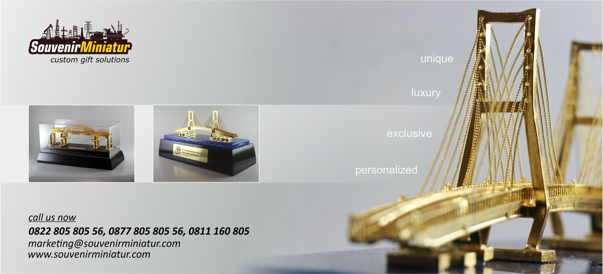 souvenir miniatur berkualitas