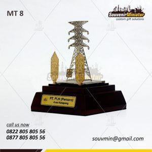 Souvenir Miniatur Tower PLN Area Ketapang