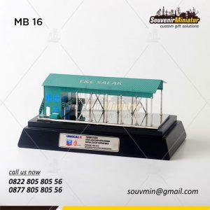Souvenir Miniatur Gedung EC Salak