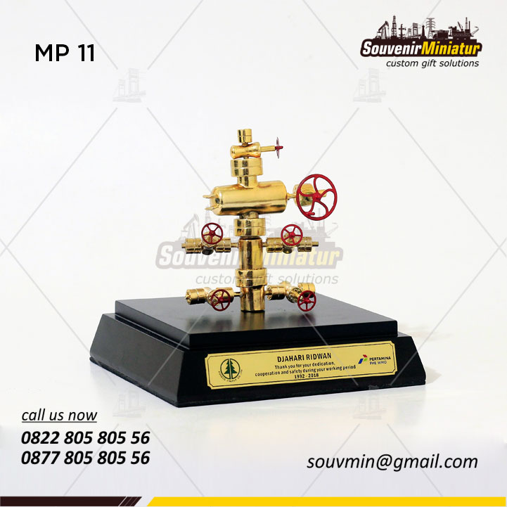 Miniatur Well Head PT Pertamina