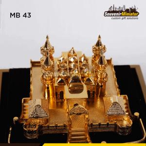 MB43 Souvenir Miniatur Bangunan Masjid Berkualitas