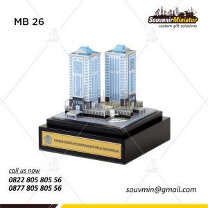 Miniatur Gedung Kementerian Keuangan Republik Indonesia