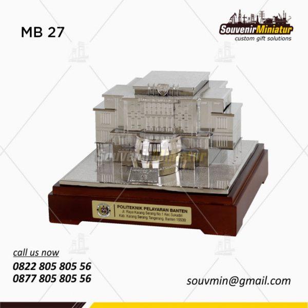 Miniatur Gedung Politeknik Pelayaran Banten