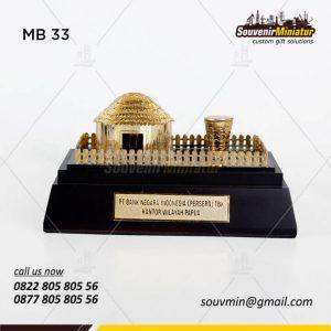 Souvenir Miniatur Rumah Adat Honai