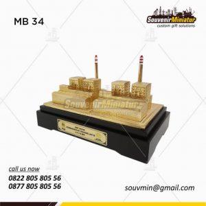Souvenir Miniatur Gedung PLN