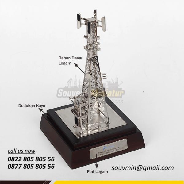 Detail Elemen Miniatur Tower BTS Centratama