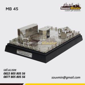 Souvenir Miniatur Bangunan Kemensos