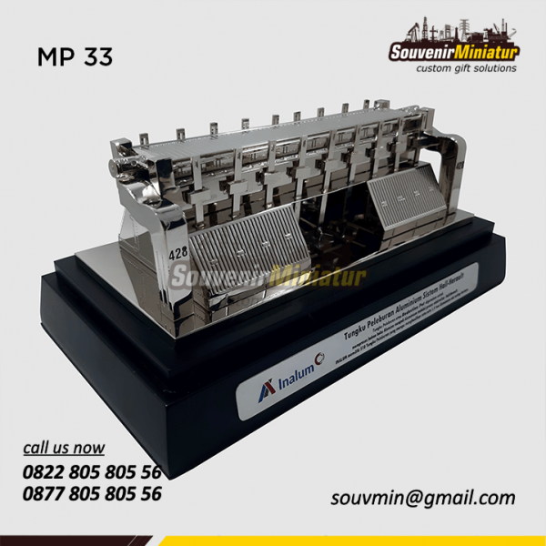 Souvenir Miniatur Tungku Pelebur Alumunium