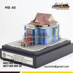 Sebuah Miniatur Bangunan untuk Souvenir
