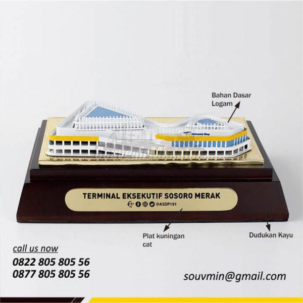 Detail Miniatur Bangunan Terminal Eksekutif Sosoro Merak