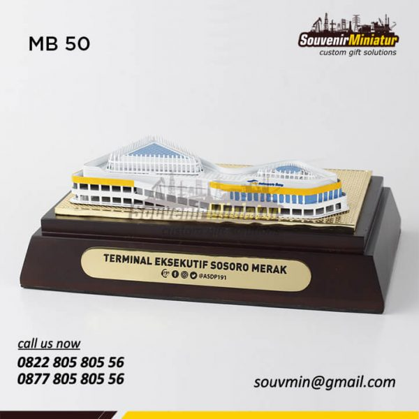 MB50 Miniatur Bangunan Terminal Eksekutif Sosoro Merak