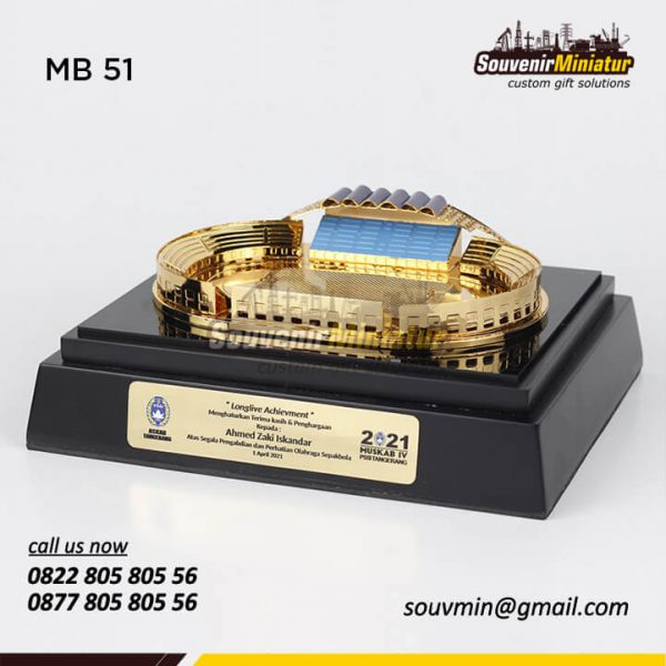 MB51 Souvenir Miniatur Bangunan Stadion Sepak Bola Tangerang