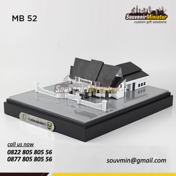 MB52 Souvenir Miniatur Bangunan Gedung Pemerintah Kota Sukabumi