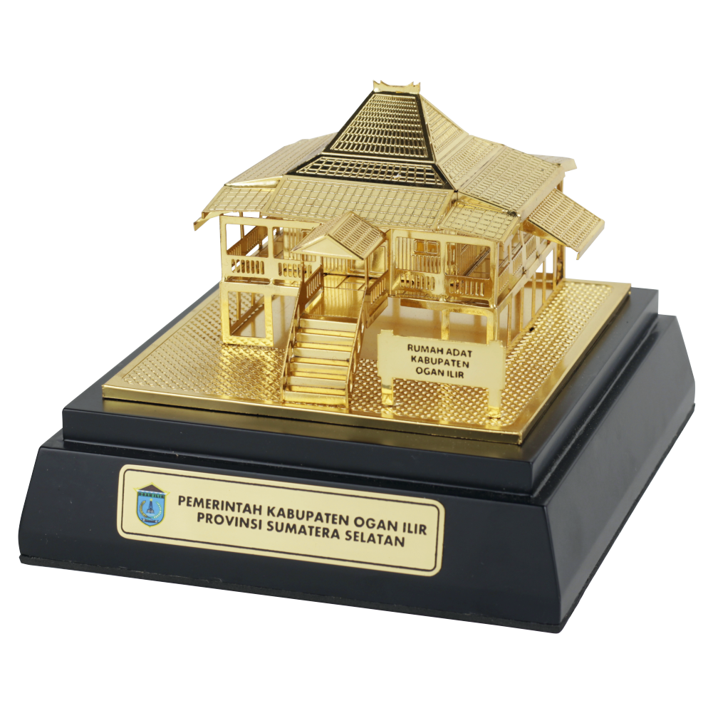 Souvenir Miniatur Rumah Adat Ogan Ilir